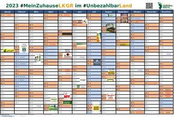 Jahreskalender 2021 im #MeinZuhauseLKGR und #UnbezahlbarLand Görlitz