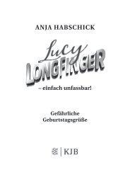 Leseprobe: Lucy Longfinger. Gefährliche Geburtstagsgrüße