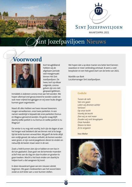 Domus Magnus 5246 Sint Jozefpaviljoen maart april 2021 ROW WEB