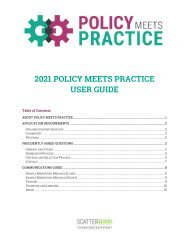 Policy Meets Practice User Guide