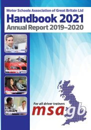 MSA Handbook 2021 and Annual Report 2019-20