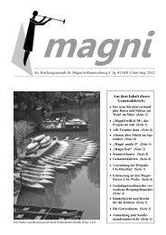 Aus dem Inhalt dieses Gemeindebriefs: - St. Magni Braunschweig