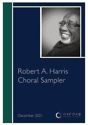 Robert A. Harris choral sampler
