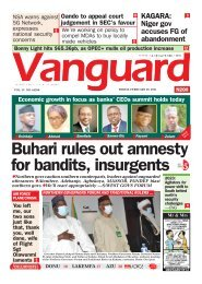 26022021 - Buhari rules out amnesty for bandits, insurgents