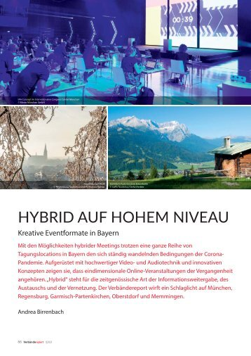 Hybrid auf hohem Niveau -  Kreative Eventformate in Bayern