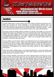 Ausblick: - Ultras Essen
