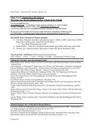 Literatur zur theaterpädagogischen Arbeit in der Schule
