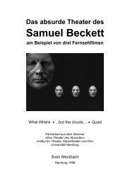 Das absurde Theater des Samuel Beckett am ... - Sven Merzbach