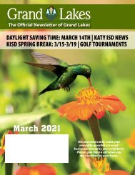 Grand Lakes March 2021