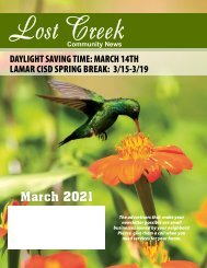 Lost Creek March 2021