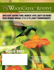 Woodcreek March 2021