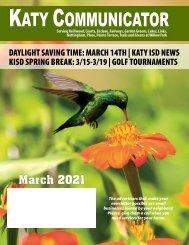 Katy Communicator March 2021