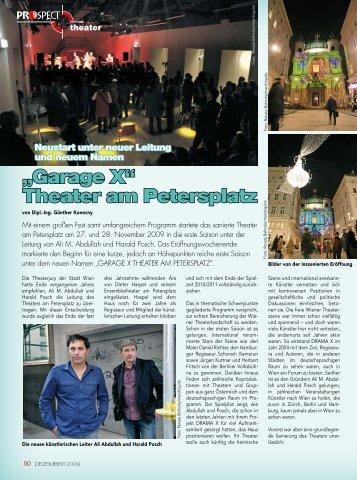 Garage X Theater am Petersplatz – Neustart unter neuem