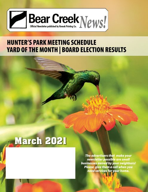 Bear Creek March 2021