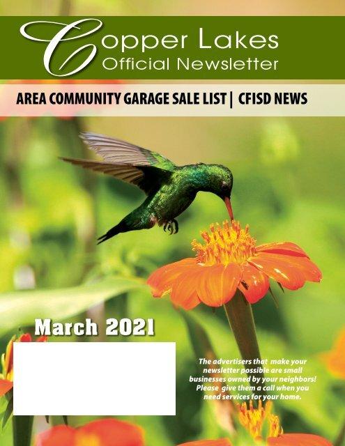 Copper Lakes March 2021