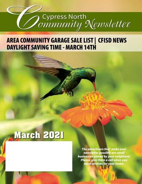 Cypress North March 2021