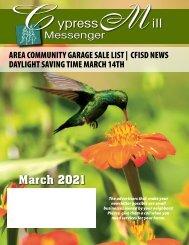Cypress Mill March 2021
