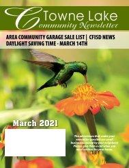 Towne Lake March 2021