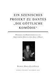 ein szenisches projekt zu dantes - Landesarbeitsgemeinschaft ...