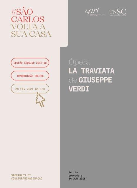 Folha de Sala Digital transmissão online 28 fevereiro 2021 LA Traviata gravado14jun2018