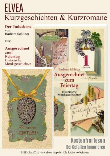 """""""Der Judaskuss"""" Ein Kurzroman von Barbara Schlüter"""