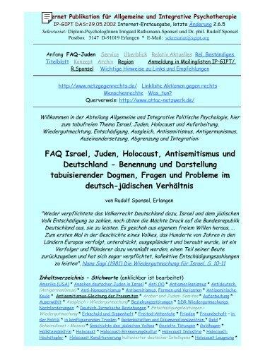 faq israel, juden, holocaust, antisemitismus und deutschland