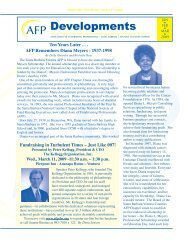 Developments - Association of Fundraising Professionals Santa ...