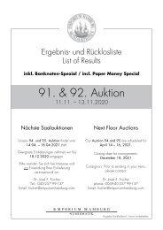 91. & 92. Auktion - Ergebnisliste - Emporium Hamburg