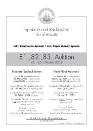 81. - 83. Auktion - Ergebnisliste - Emporium Hamburg