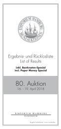 80. Auktion - Ergebnisliste - Emporium Hamburg