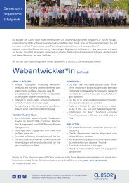 Webentwickler (m/w/d) Stellenanzeige