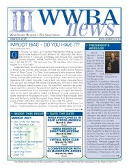 WWBA March 2021 Newsletter - M