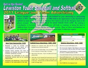 Sponser Flyer - LeagueLineup.com