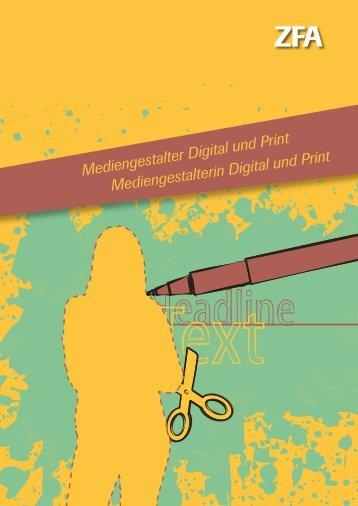 Infobroschüre Mediengestalter Digital und Print