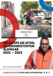 Beleidsplan en afval en grondstoffen 2021-2023 - Stadswerk072