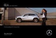 Mercedes-Benz Preisliste GLA SUV