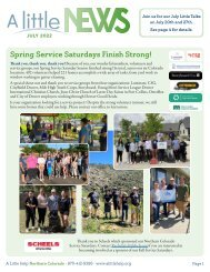 Northern Colorado May Newsletter