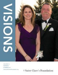 Visions - Summer 2011 - Saint Clare's Foundation