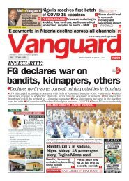 03032021 - INSECURITY FG declares war on bandits, kidnappers, others