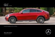 Mercedes-Benz Preisliste GLC Coupé
