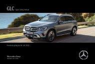 Mercedes-Benz Preisliste GLC SUV