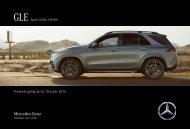 Mercedes-Benz Preisliste GLE SUV