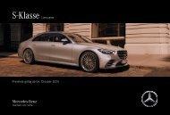 Mercedes-Benz Preisliste S-Klasse Limousine