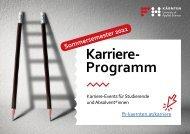 Karriereprogramm Sommersemester 2021