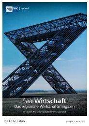 Mediadaten des Magazins SaarWirtschaft der IHK Saarland