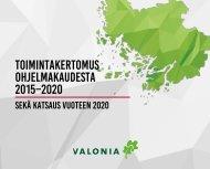 Toimintakertomus Valonian ohjelmakaudesta 2015–2020