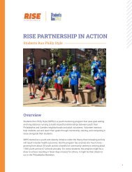 RISE PARTNERSHIP IN ACTION :Students Run Philly Style