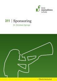 Sponsoring - Freie Journalistenschule
