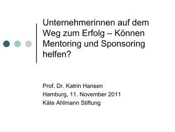 Mentees - Käte Ahlmann Stiftung