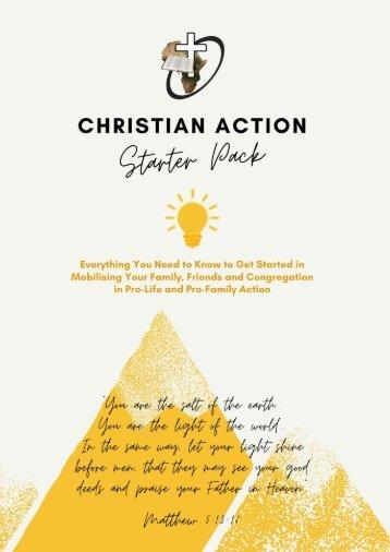 Christian Action Starter Pack 2021